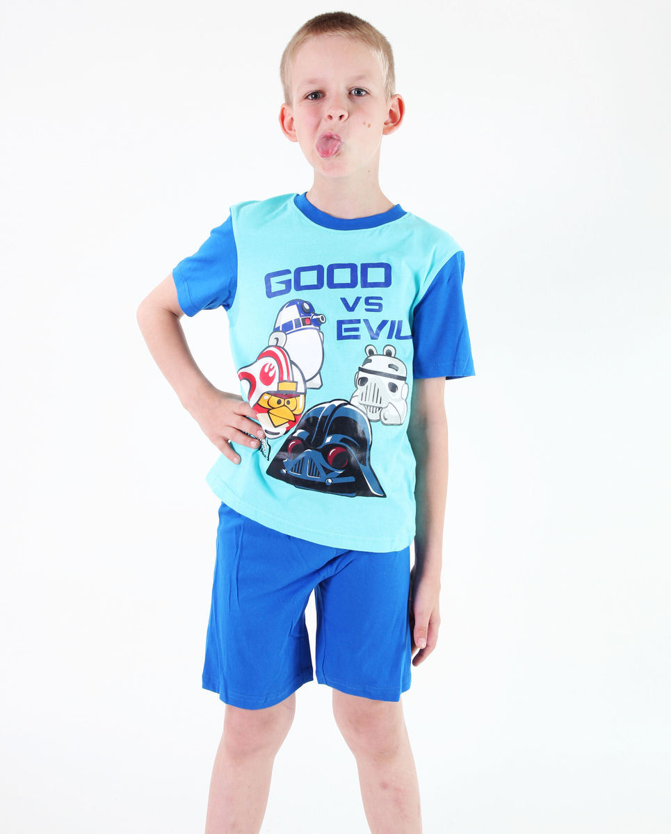 pyžamo chlapčenské TV MANIA - Angry Birds - Turquise - SWAB 342