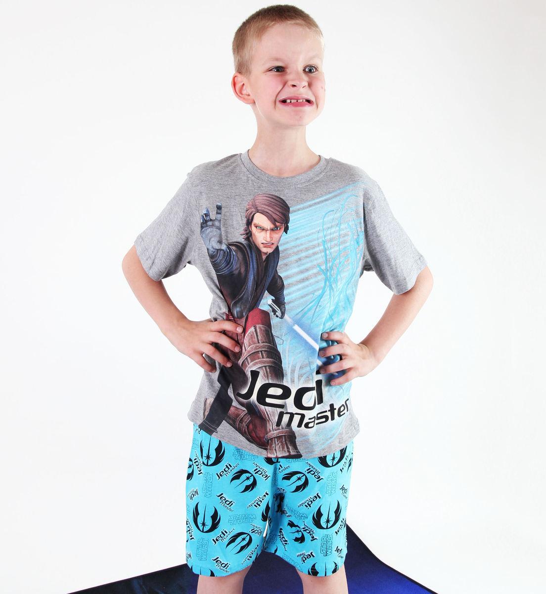pyžamo chlapčenské TV MANIA - Star Wars Clone - Grey - CLON 824
