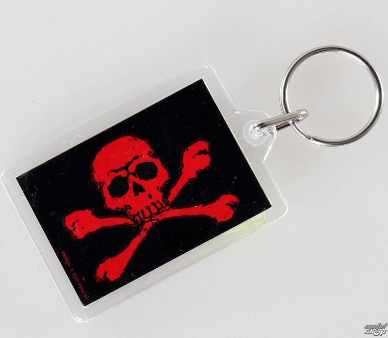 kľúčenka (prívesok) Skull and Crossbones - Red - PYRAMID POSTERS - PK0424