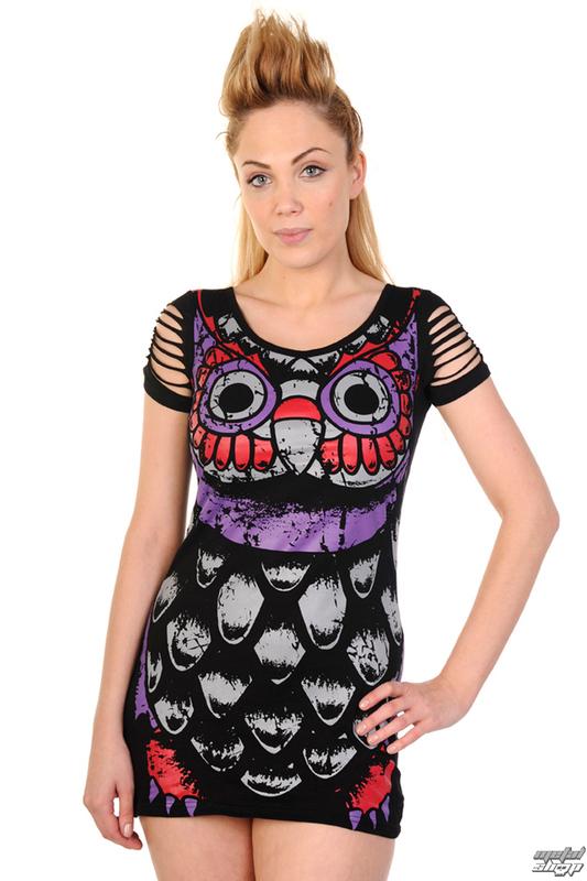 85999a449d1e šaty dámske (tunika) BANNED - Owl - Black - DBN562