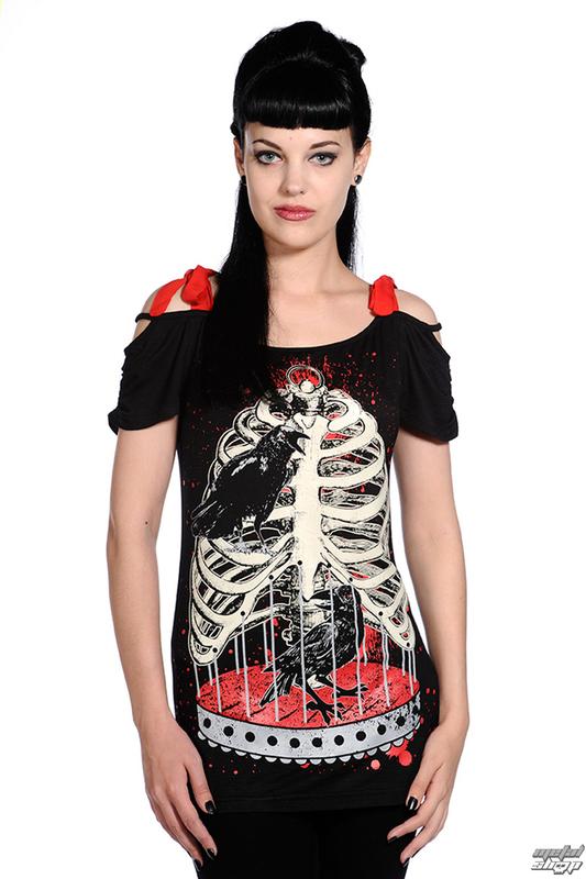tričko dámske (top) BANNED - Bird In Skeleton Cage - Black - OBN119