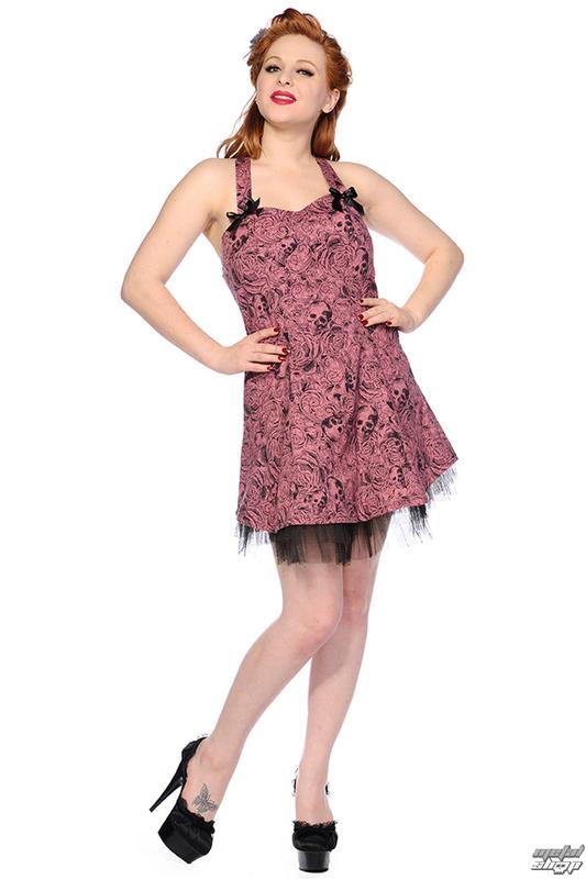 šaty dámske BANNED - Pink Skull And Roses - DBN526D.PI