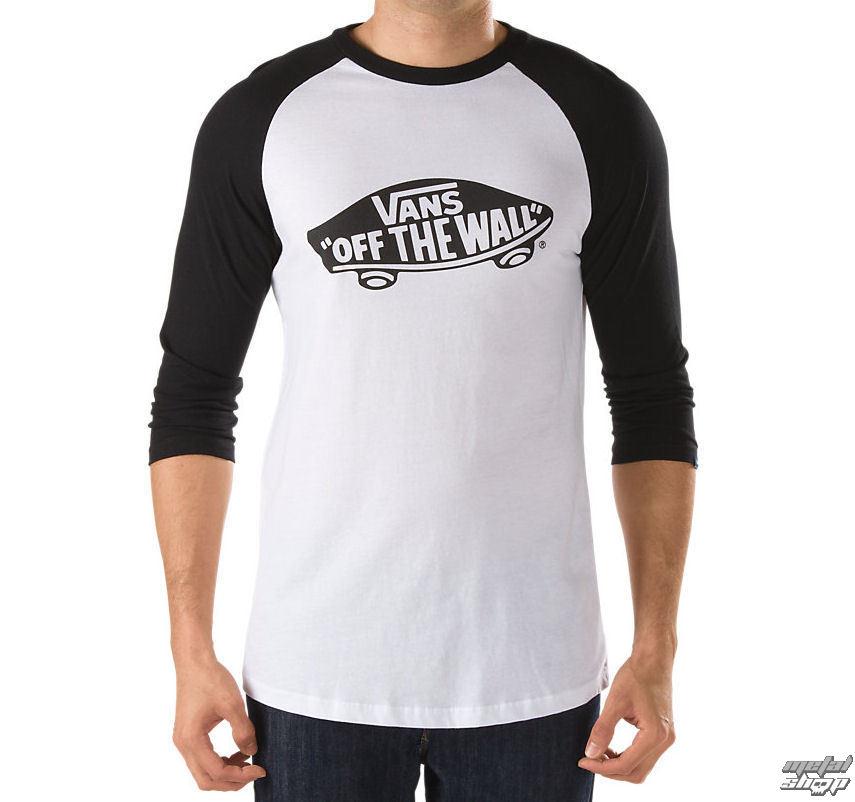 tričko pánske VANS - OTW Raglan - WHITE-BLACK - VXXMYB2