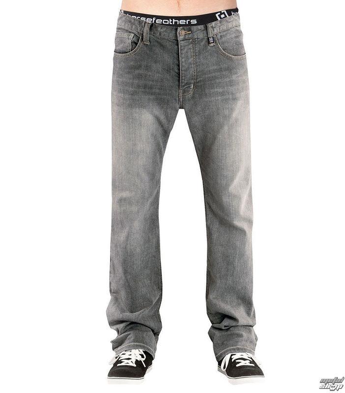 nohavice pánske (jeans) HORSEFEATHERS - TRUCK LIGHT - GRAY DENIM