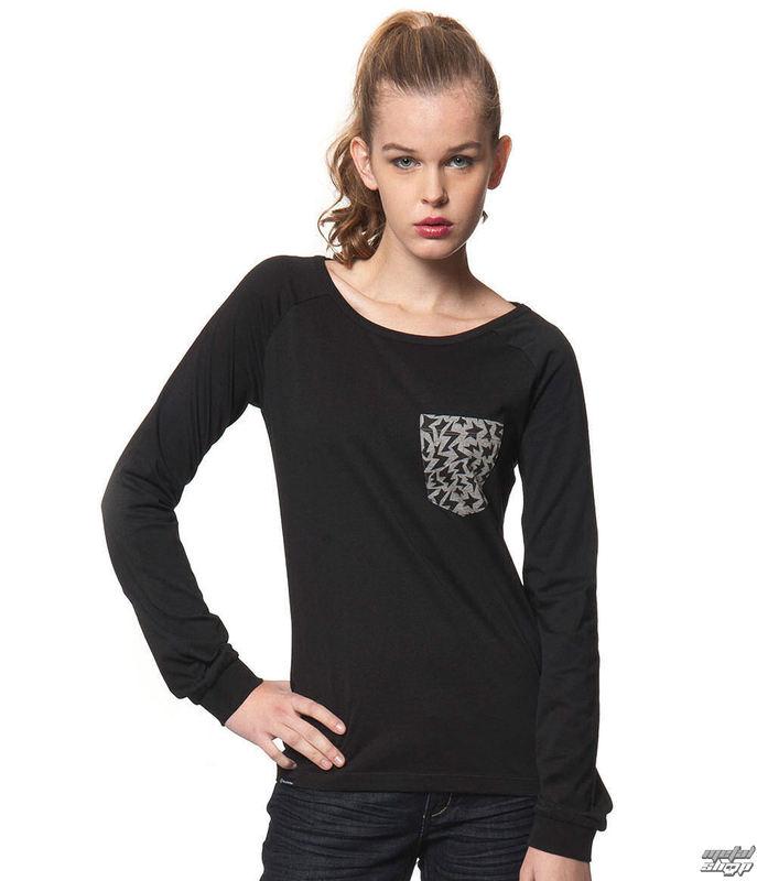 tričko dámske s dlhým rukávom HORSEFEATHERS - VERENA - Black