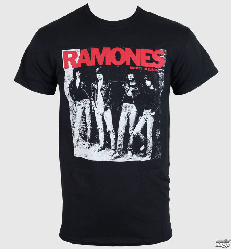 ec59a33e1ba tričko pánske Ramones - Rocket To Russia - Black - ROCK OFF - RA02 ...