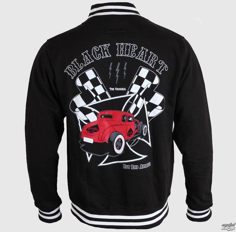 mikina pánska Baseball BLACK HEART - Red Coupe - Black