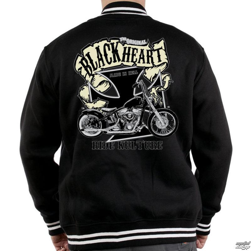 mikina pánska Baseball BLACK HEART - Motorcycle K. - Black