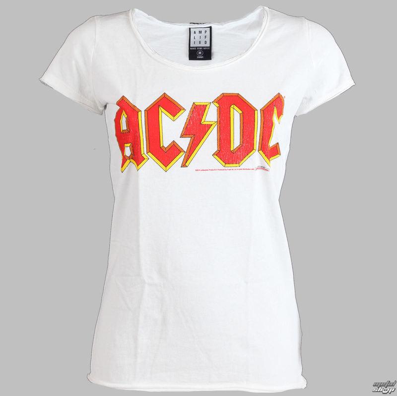 tričko dámske AC/DC - Logo - AMPLIFIED - White - AV601ACL