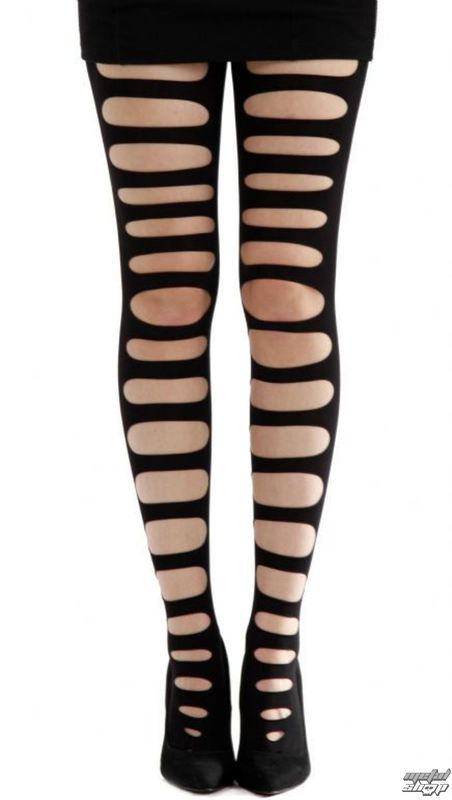 pančucháče PAMELA MANN - Front Slash Tights - Black - 089