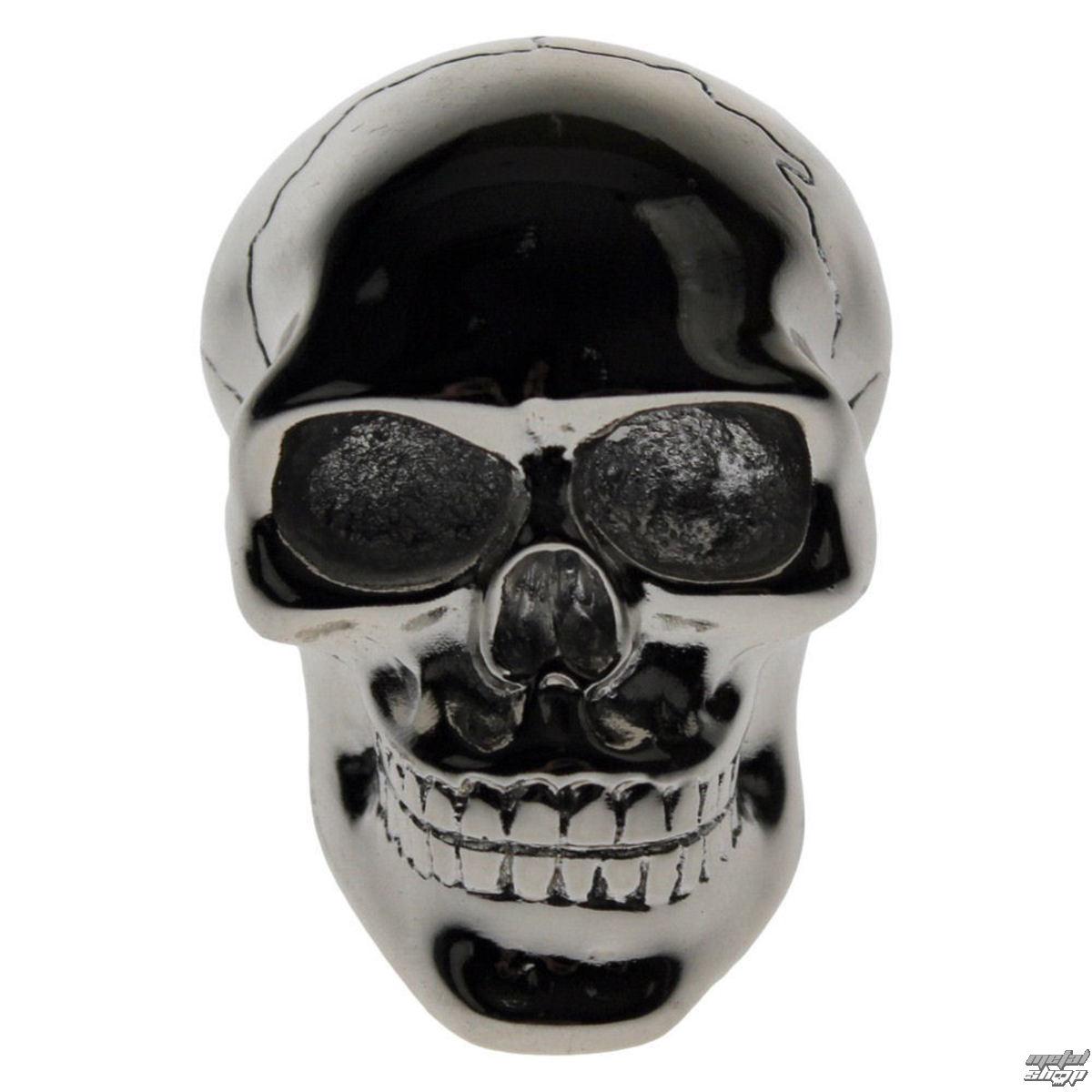 dekorácia -hlavica radiacou páky- Silver Skull Gear - U0485B4