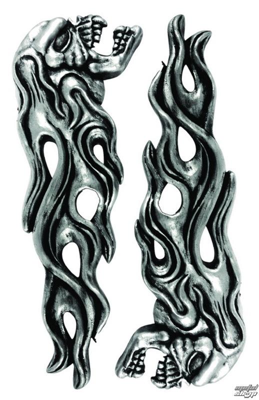 dekorácia (na auto) LETHAL THREAT - LT & RT Flaming Skull Emlemes - LT88676