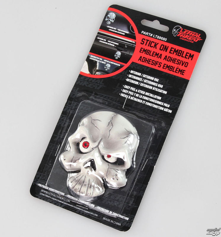 dekorácia (na auto) LETHAL THREAT - Eyeball Skull Emblem - LT88680