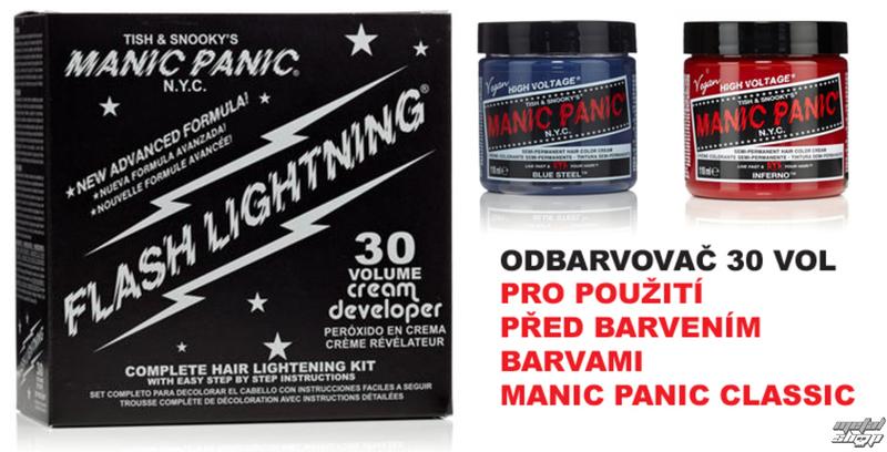 farba na vlasy (zosvetľovač) MANIC PANIC - 30 vol.