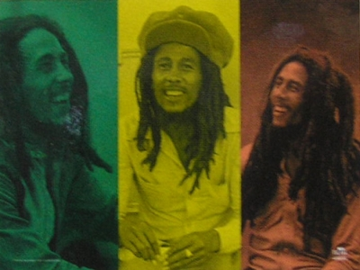 vlajka Bob Marley - Rasta Collage - HFL0831