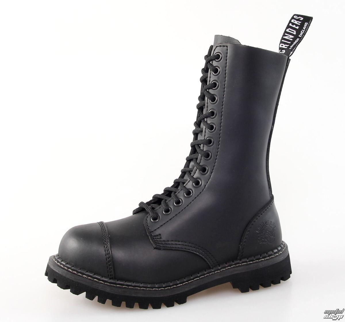 topánky GRINDERS - 14dírkové - Herald Derby - Black