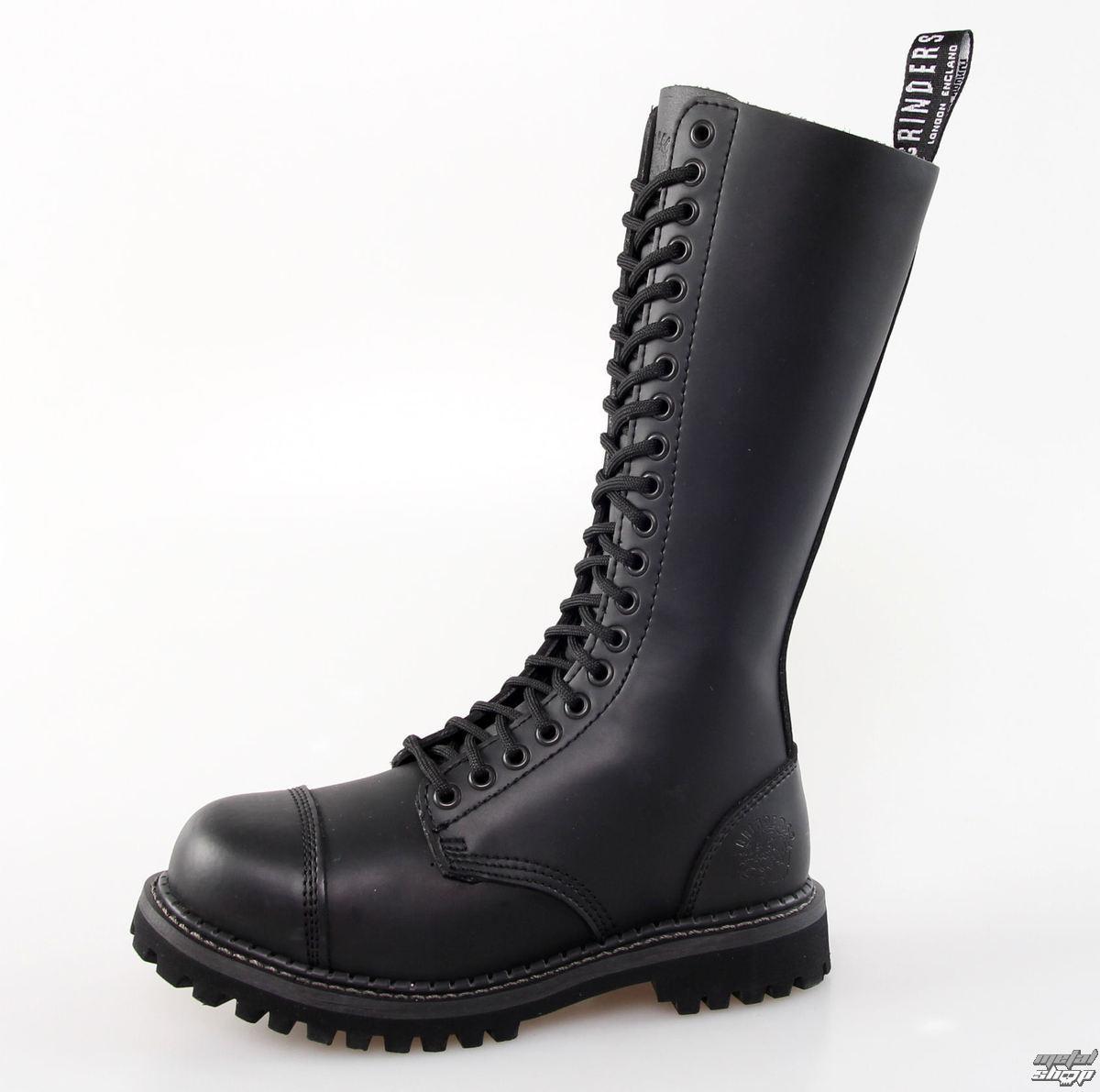 topánky GRINDERS - 20dírkové - King Derby - Black