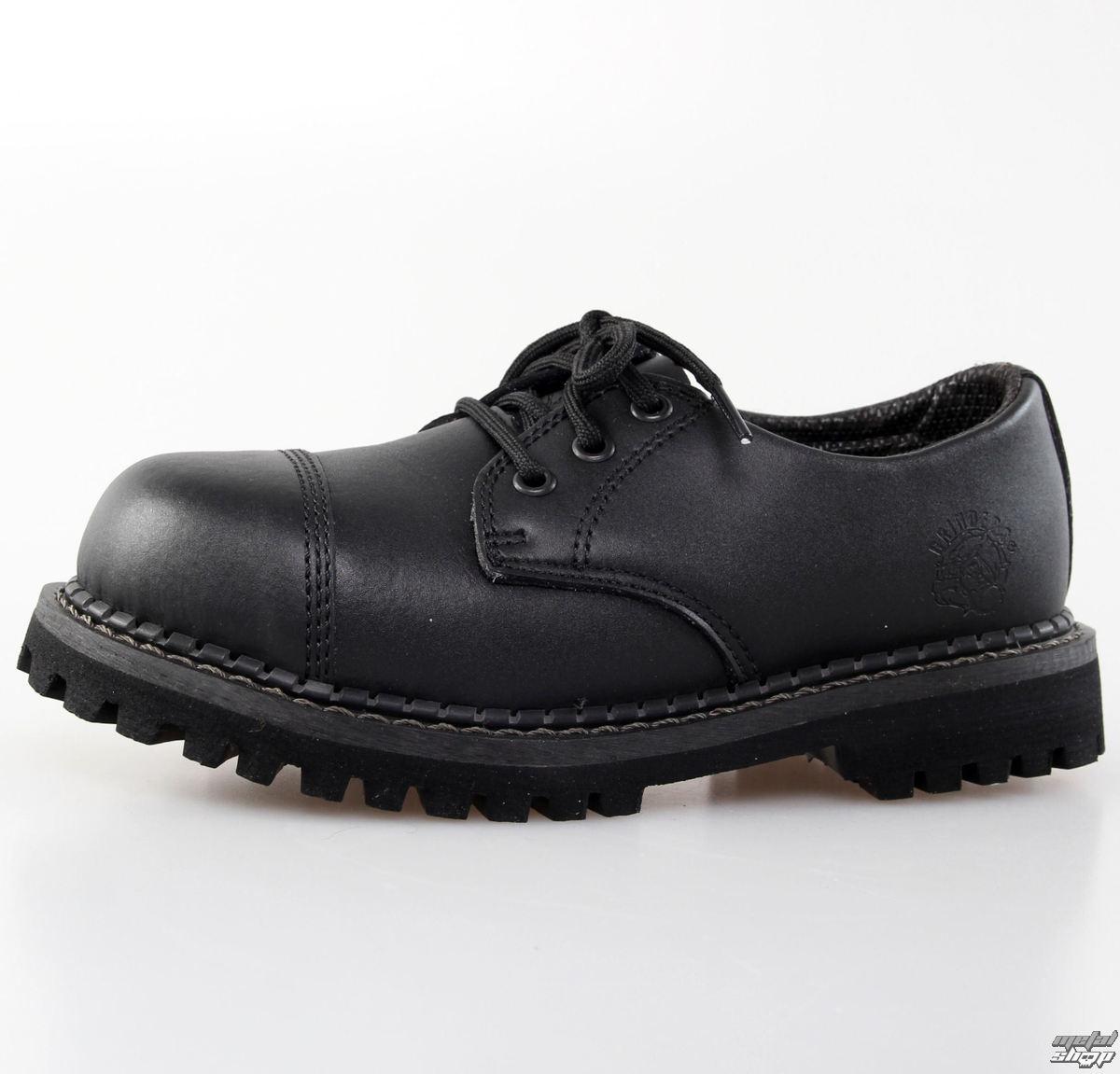 topánky GRINDERS - 3dírkové - Regent - Black
