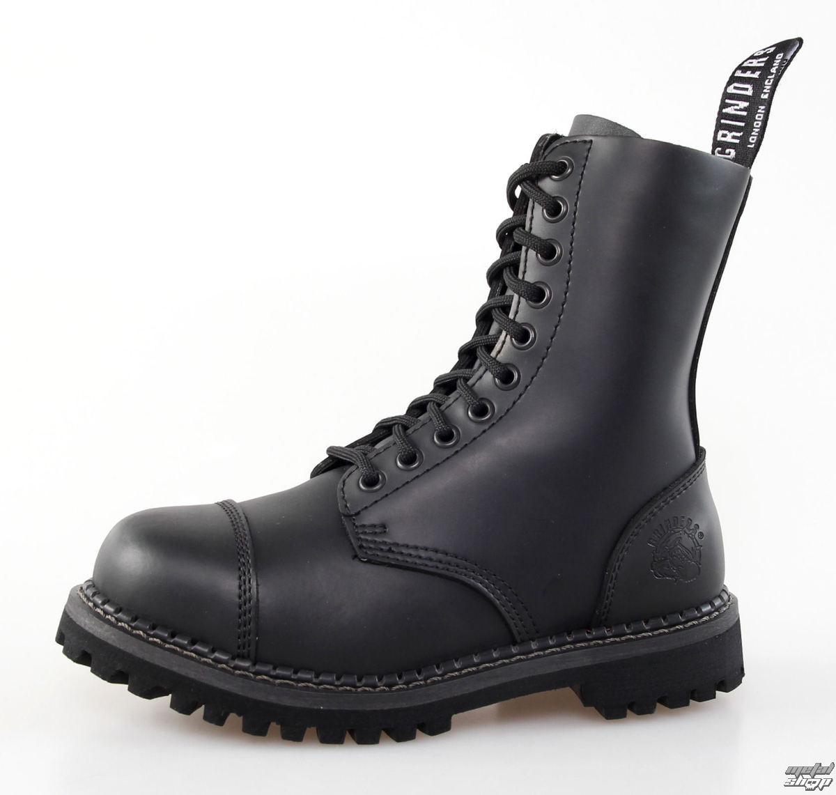 topánky GRINDERS - 10dírkové - Stag Derby - Black