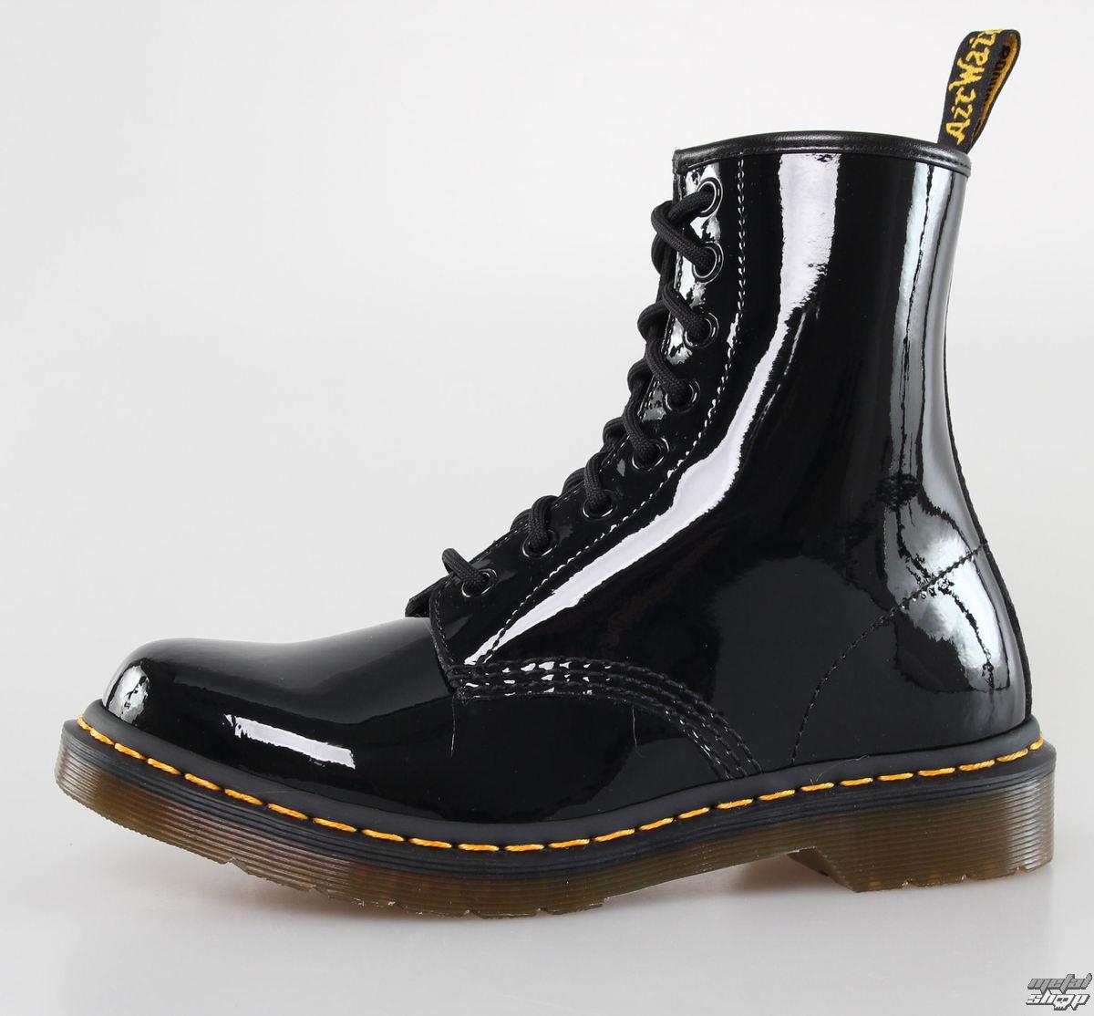 topánky DR. MARTENS - 8 dierkové - 1460 - W BLACK Paterna Lamper