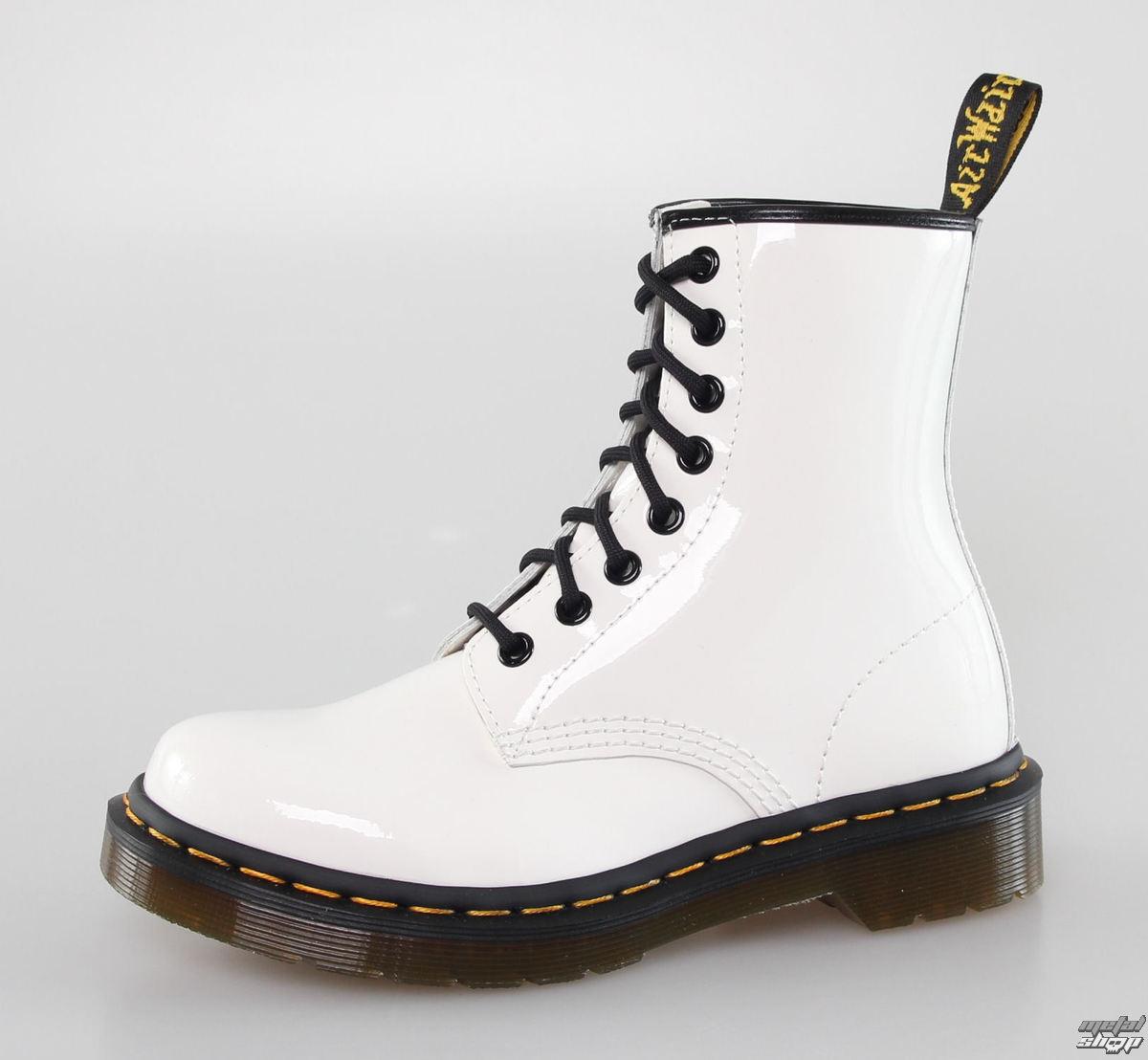 5963c81c64 topánky DR. MARTENS - 8 dierkové - 1460 - W WHITE PATENT Lamper ...