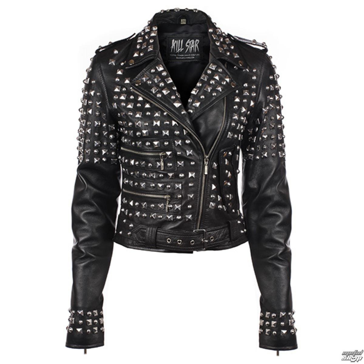 bunda dámska (křivák) KILLSTAR - Studded - Black