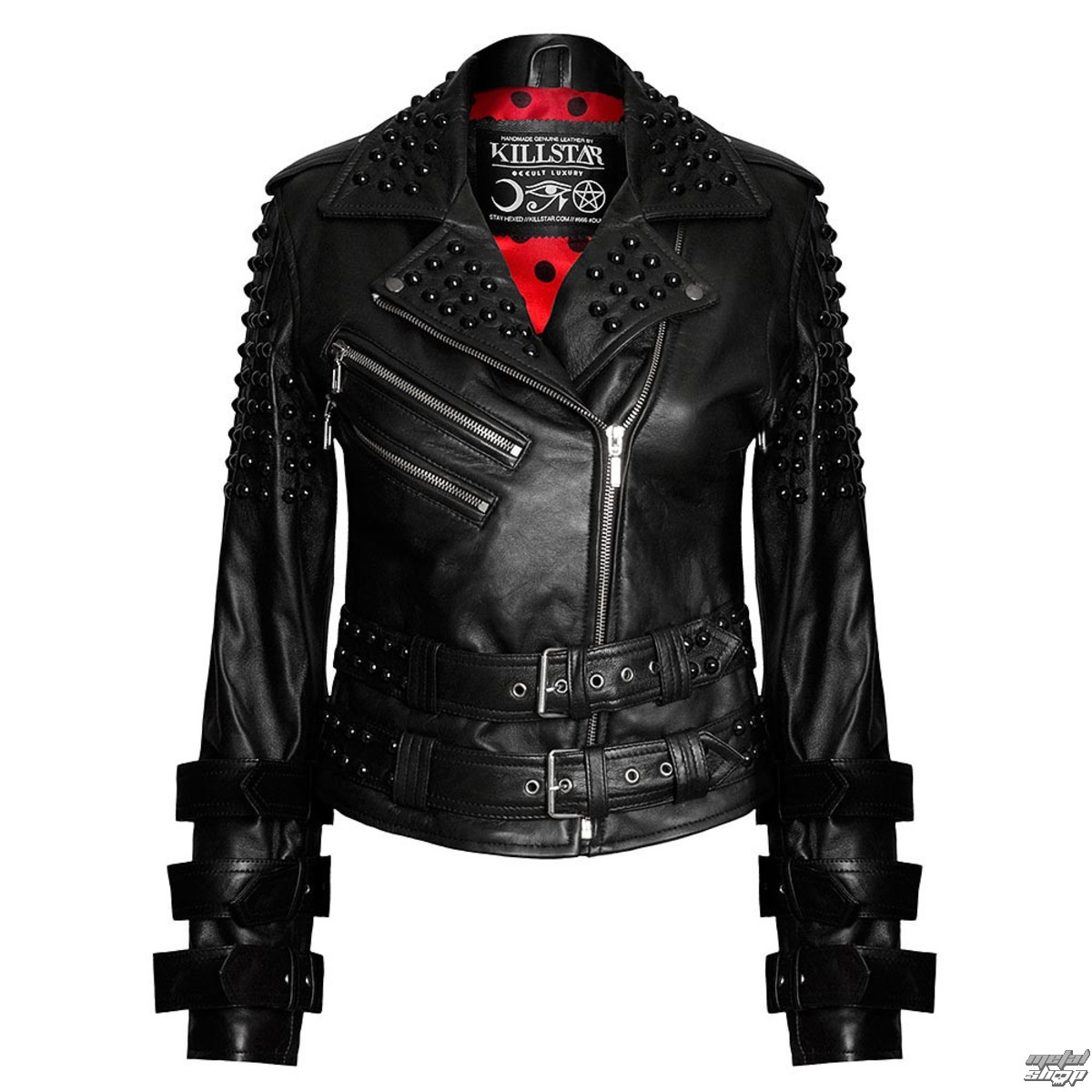 bunda dámska (křivák) KILLSTAR - Buckled Leather - Black