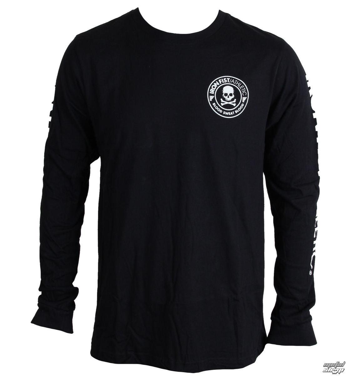 tričko pánske s dlhým rukávom IRON FIST - Crossbones - Black - IF103160
