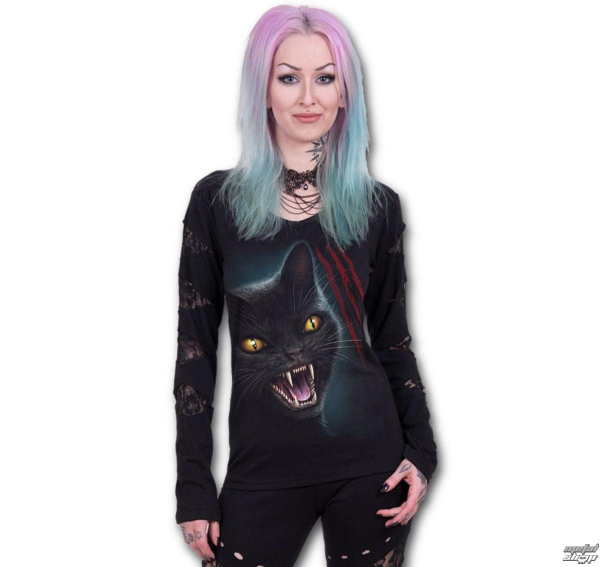 tričko dámske s dlhým rukávom SPIRAL - Feline Fury - M018F448