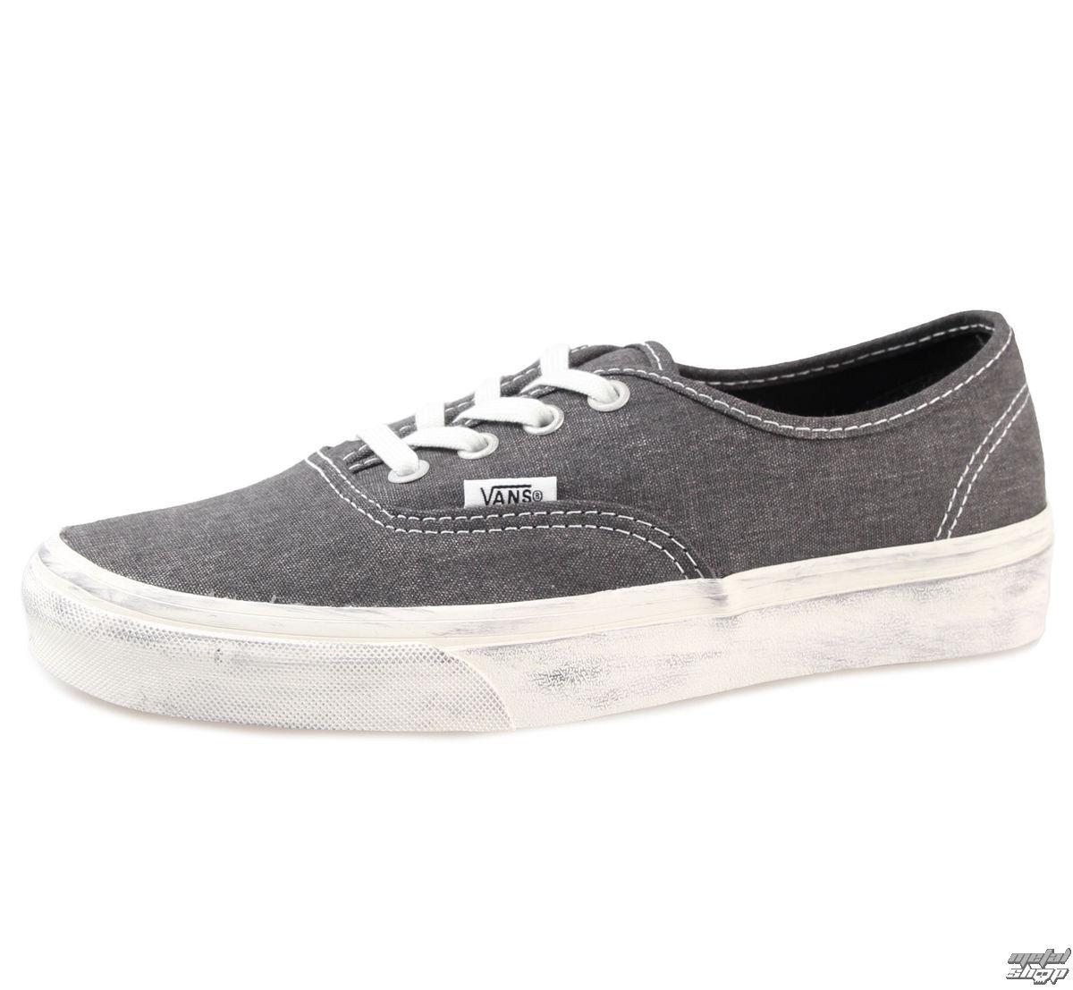 topánky VANS - Authentic (Overwashed) - Black - V18BH1V