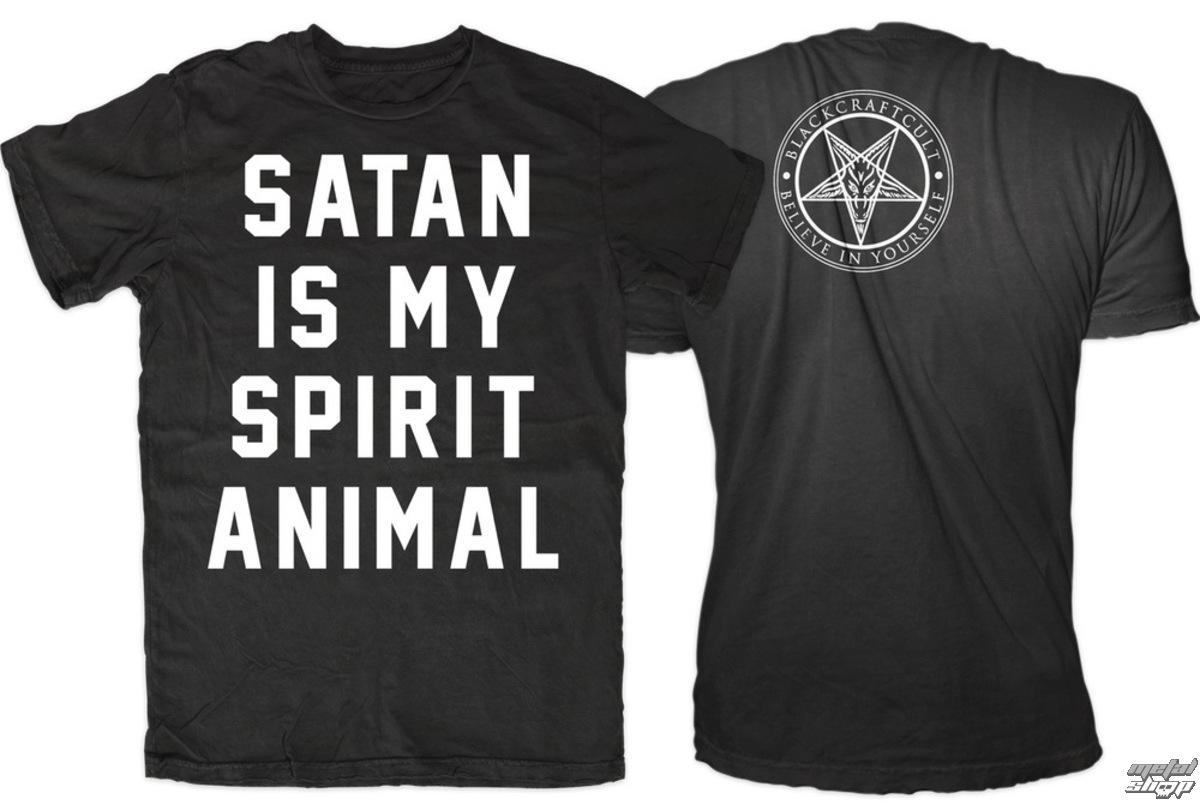 tričko pánske BLACK CRAFT - Satan Is My Spirit Animal - Black - MT108SL