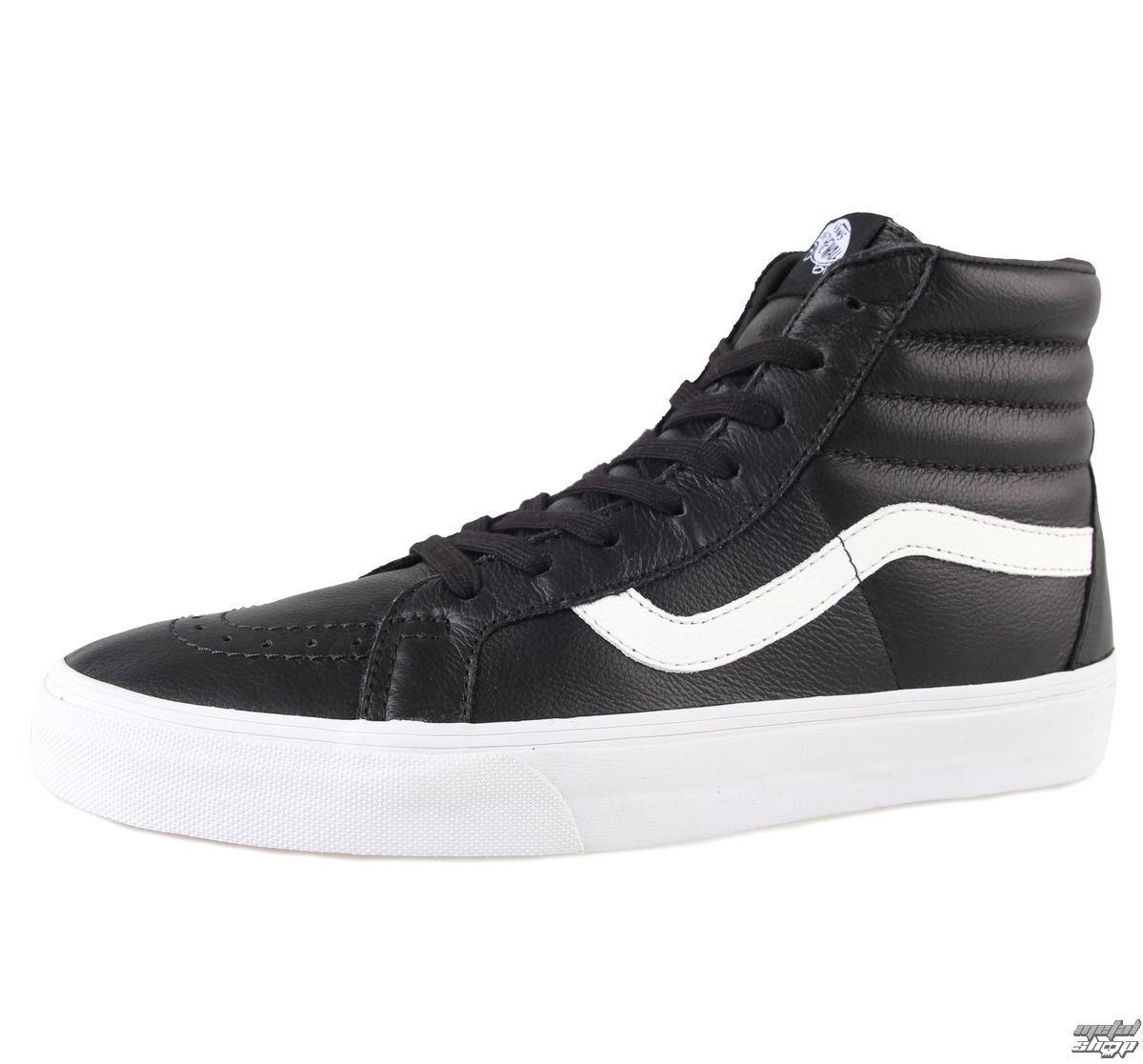 topánky pánske VANS - SK8-HI Reissue - Premium Leat - Black - VZA0EW9