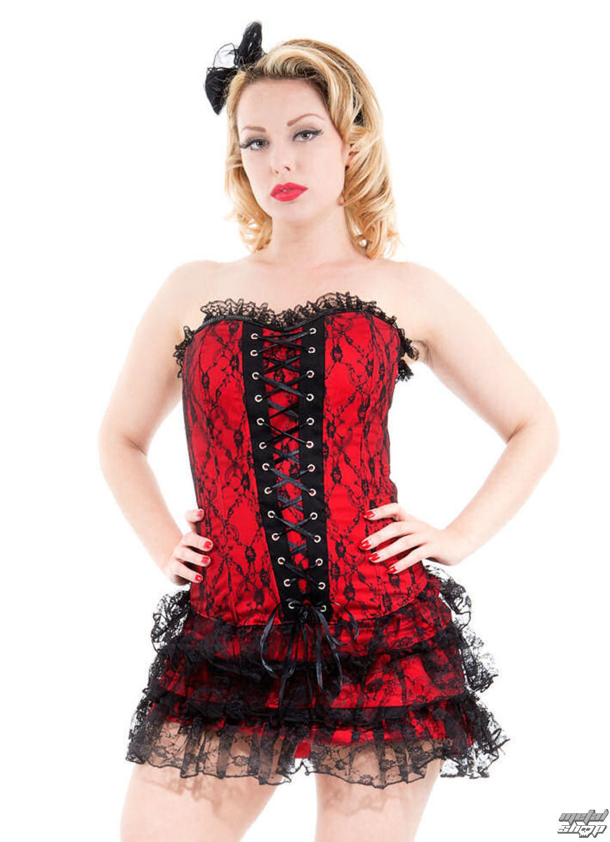 šaty dámske HEARTS AND ROSES - Red Moulin Rouge - 0227rcd