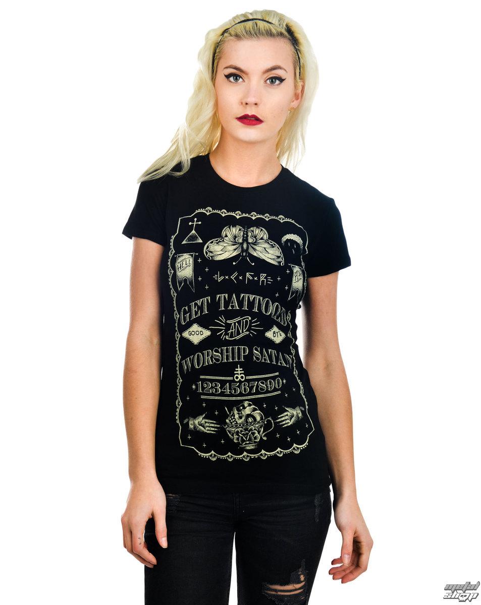 tričko dámske TOO FAST - Get Tattooed & Worship Sa - Black