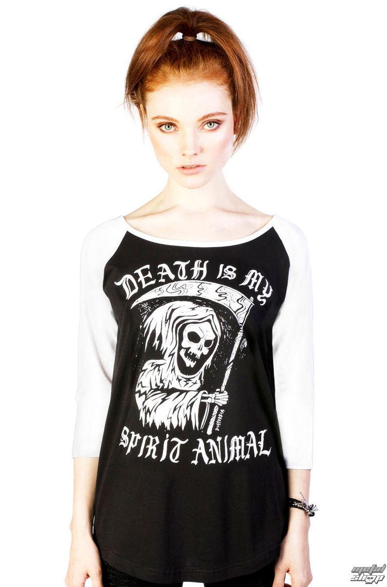 tričko dámske (tunika) DISTURBIA - Spirit Animal - Black/White - DIS715
