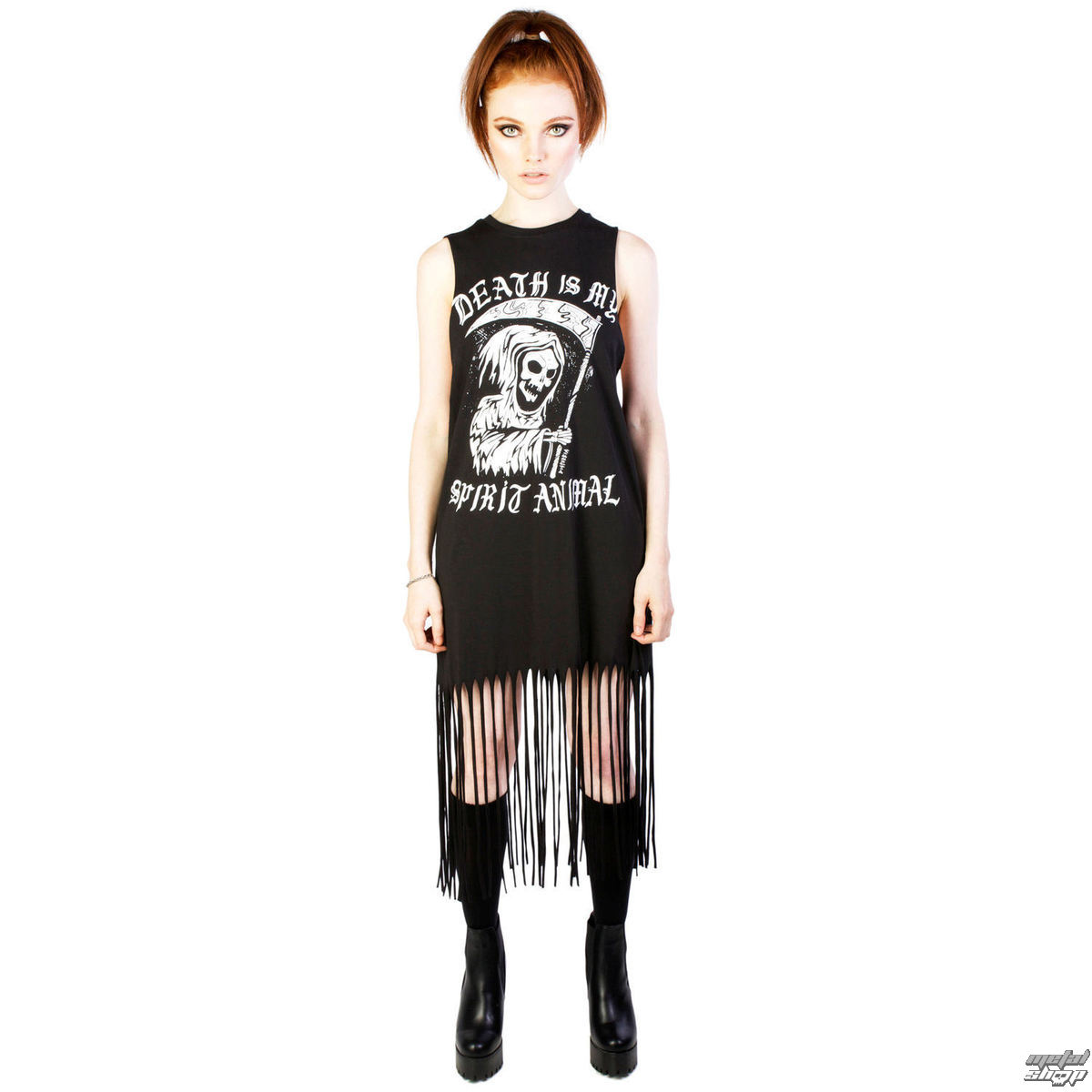 šaty dámske DISTURBIA - Spirit Animal - Black - DIS755