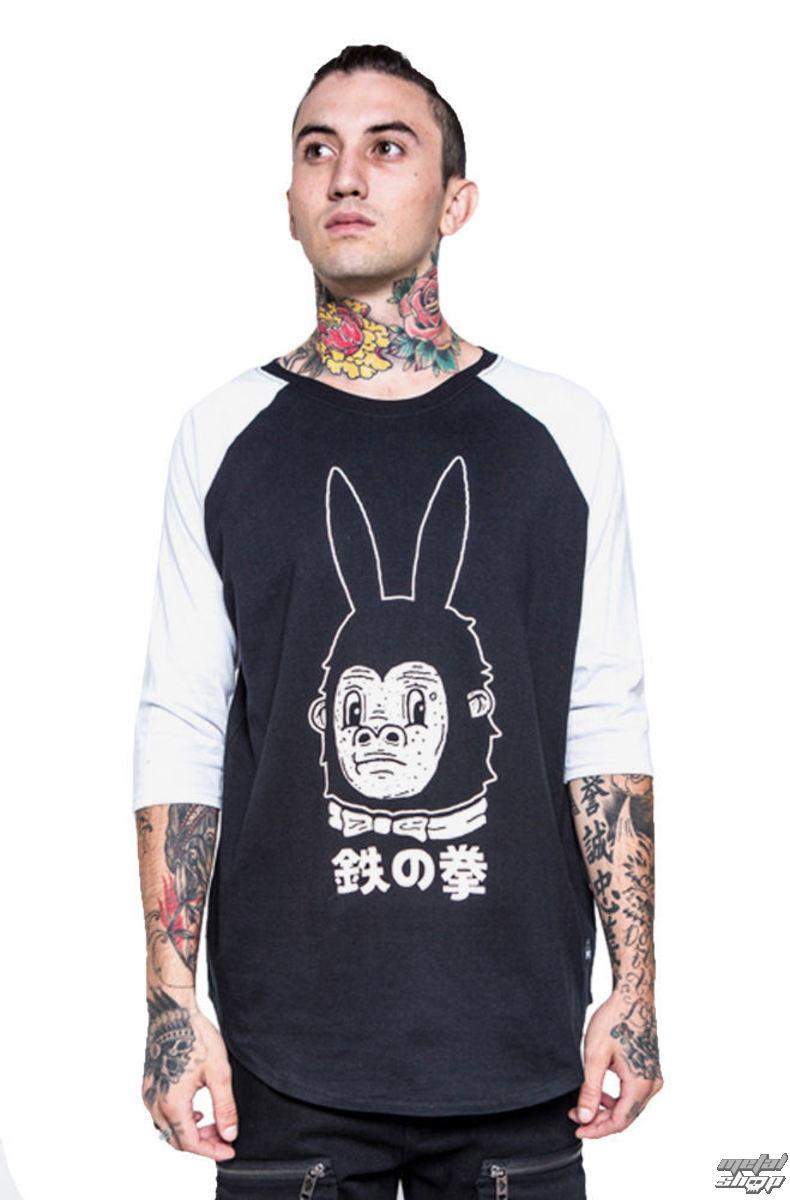 tričko pánske s 3/4 rukávom IRON FIST - Gogo-Rilla - Black/White - IFM003722