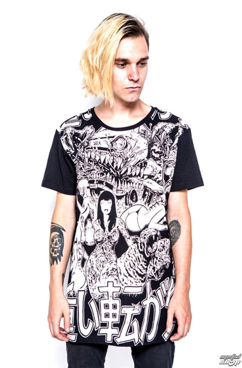 tričko pánske IRON FIST - Shinjuku Baggy Fit - Black - IFM003721