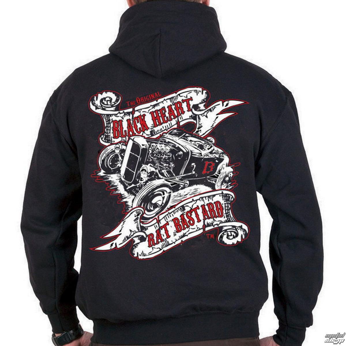 mikina pánska BLACK HEART - Rat Bastard - Black - BH096
