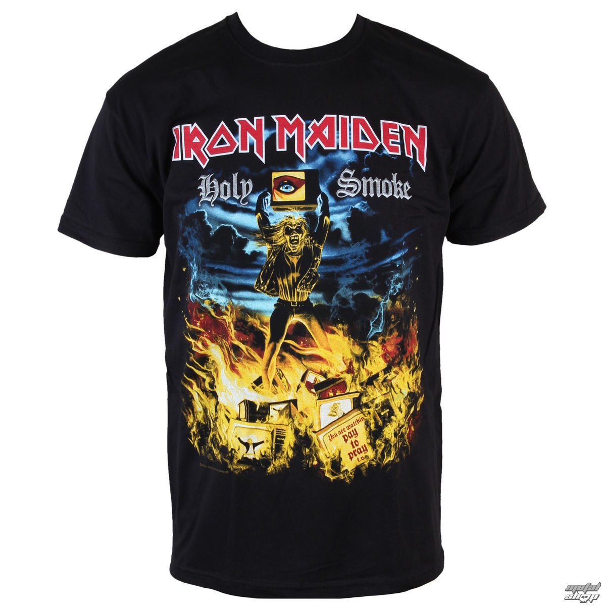 tričko pánske Iron Maiden - Holy Smoke - ROCK OFF - IMTEE46MB