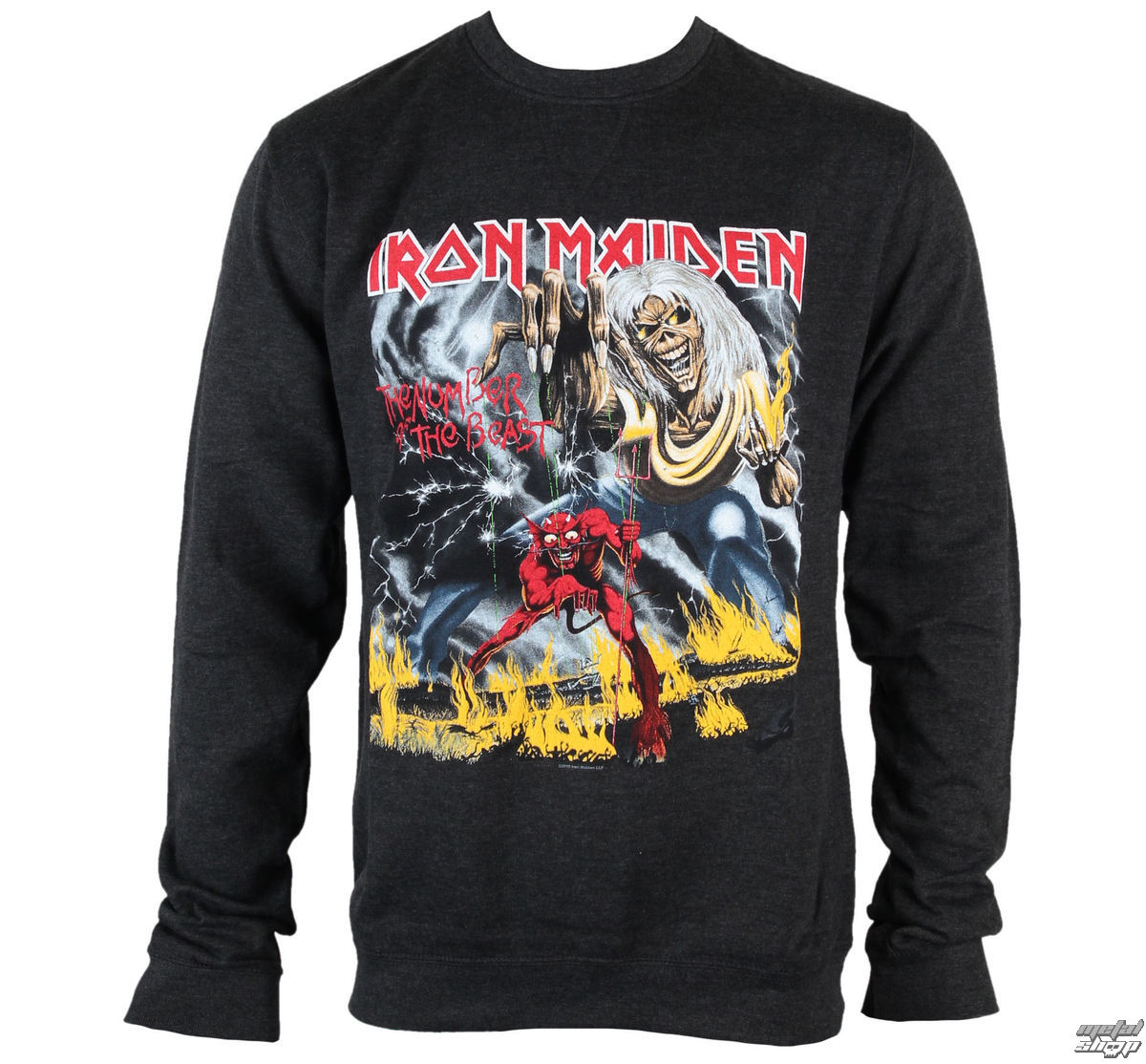 mikina pánska Iron Maiden - NOTB Puff Print - ROCK OFF