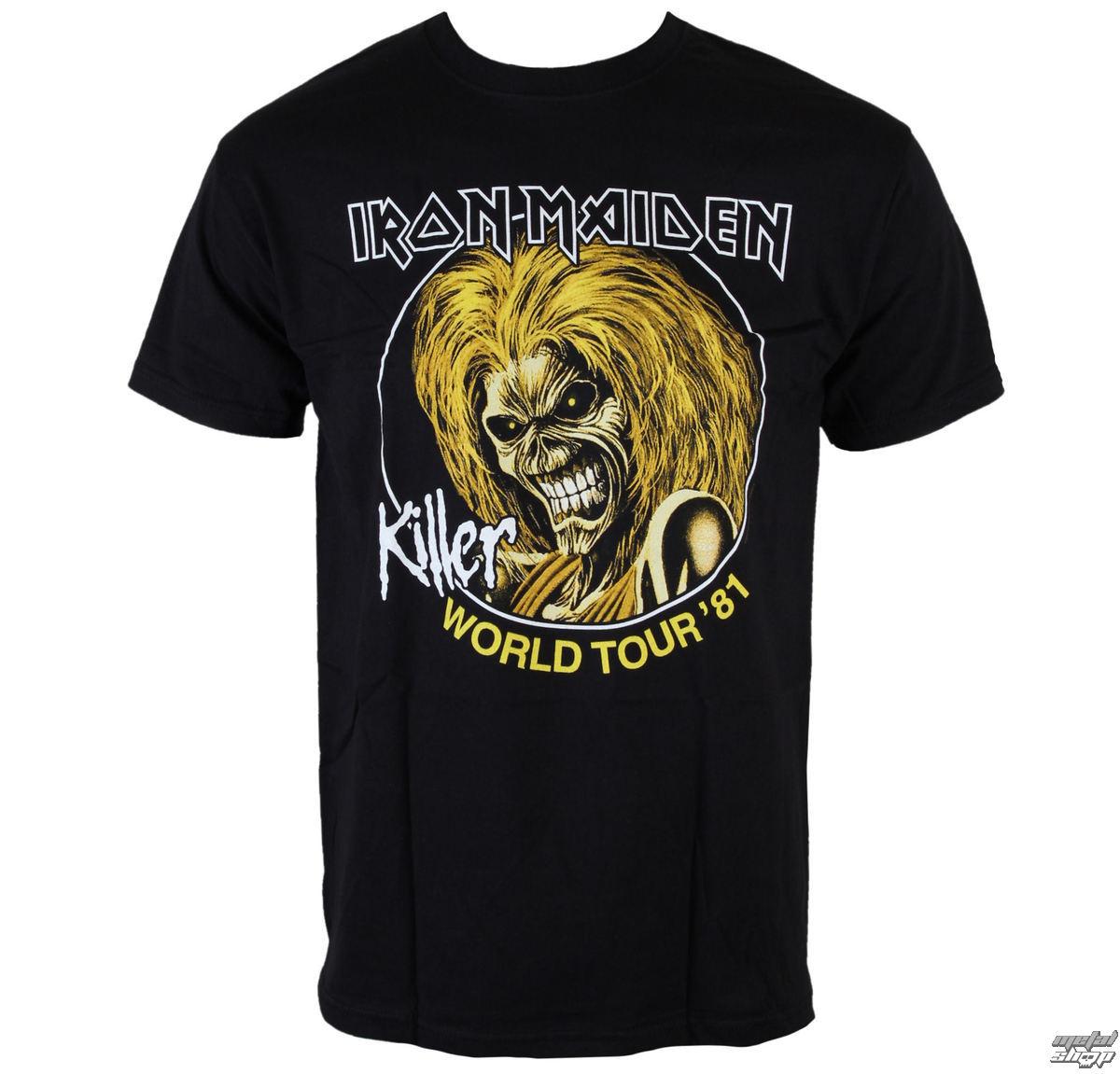 tričko pánske Iron Maiden - Killers World Tour 81 - Blk - ROCK OFF - IMTEE43MB