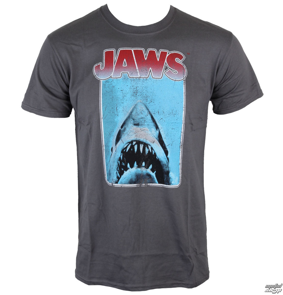 tričko pánske Jaws - Poster - Charcoal - INDIEGO - Indie0121