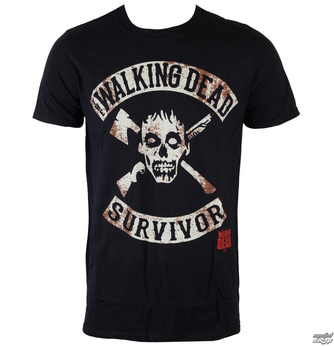 tričko pánske The Walking Dead - Survivor - Black - INDIEGO - Indie0911