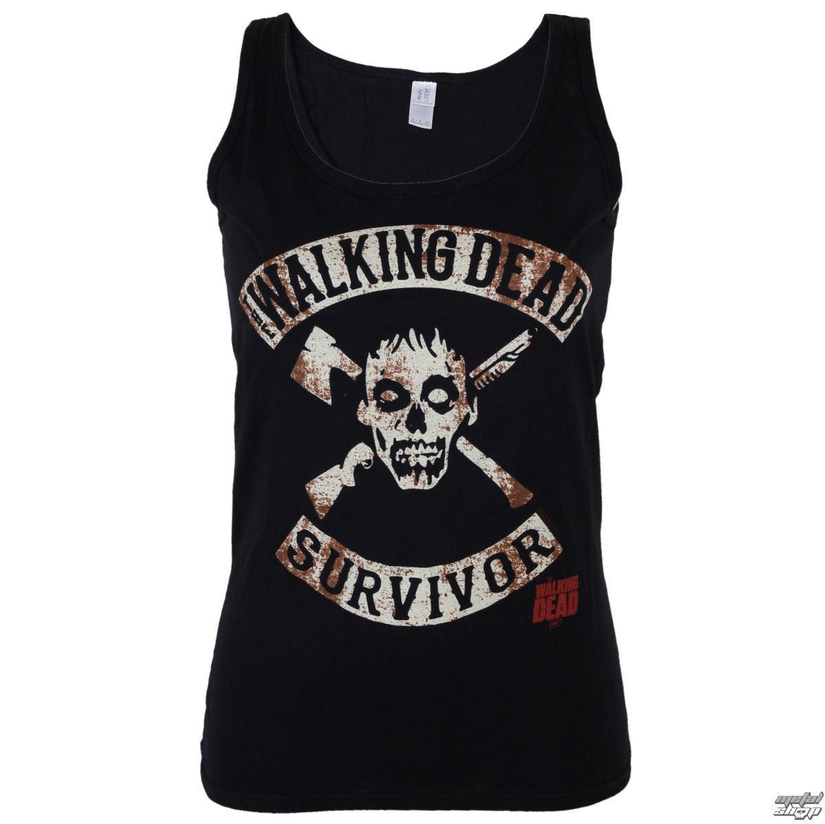 tielko dámske The Walking Dead - Survivor - Black - INDIEGO - Indie0115