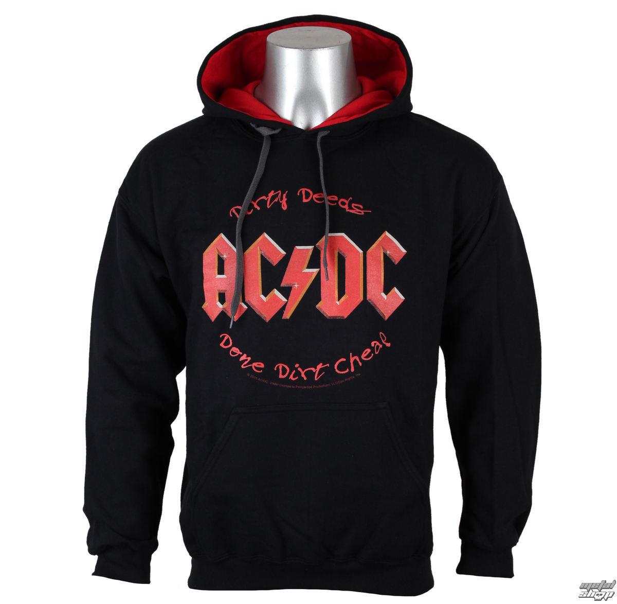 mikina pánska AC/DC - Dirty Deeds - BLK - LOW FREQUENCY - ACHO05001
