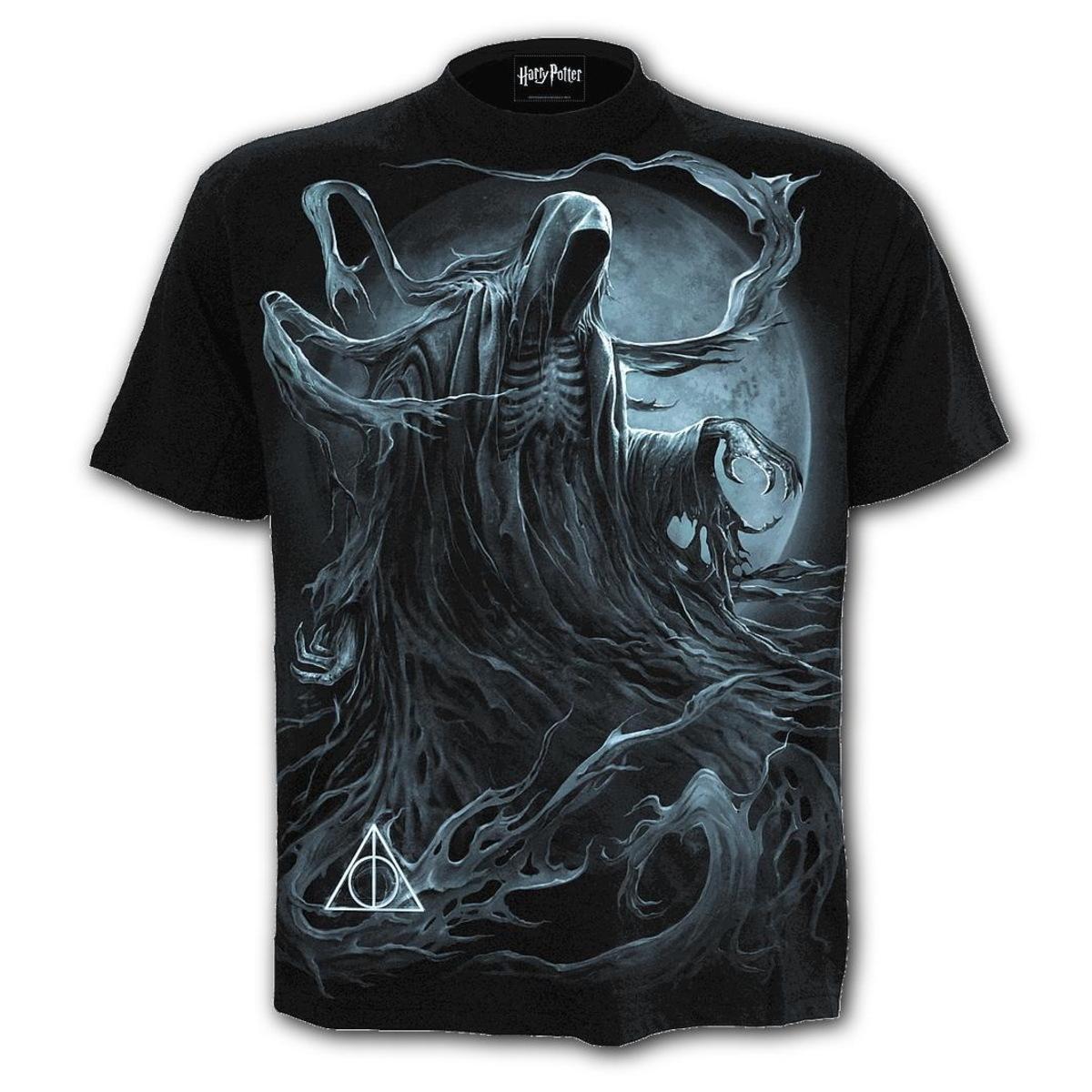 tričko pánske SPIRAL - HARRY POTTER - Dementor - Black - G245M101