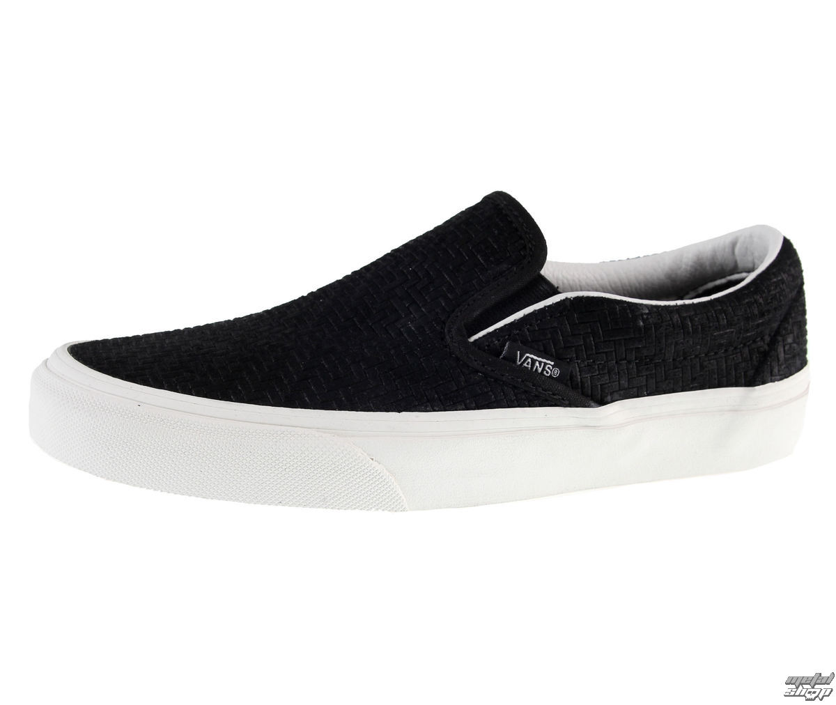 topánky pánske VANS - U Classic Slip-On (Braided Suede) - BLACK - V3Z4INY