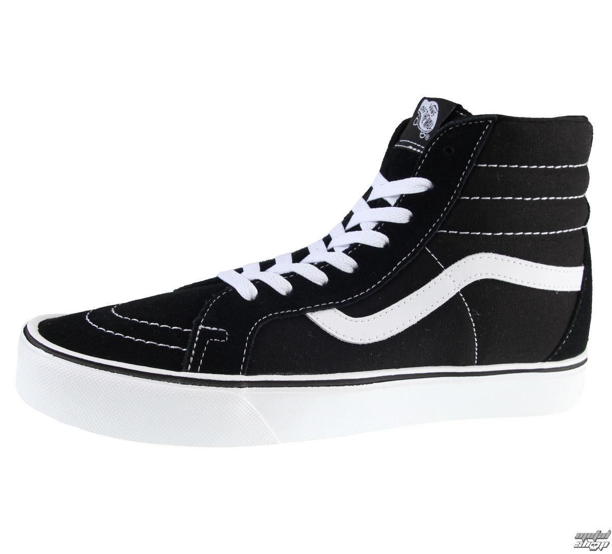 topánky pánske VANS - U SK8-Hi Lite (Suede / Canvas) - BLACK/WHITE - V4PAIJU