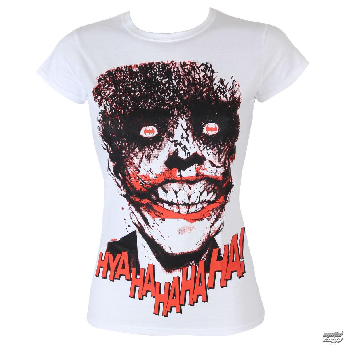 09349800f929 tričko dámske Batman - The Joker-HyaHaHaHa - White - HYBRIS - WB-5 ...